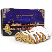 1000g Original Dresdner Christstollen® in black tin box
