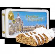 750g Original Dresdner Christstollen® in white tin box