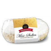 250g mini Marzipan Stollen in clear packaging