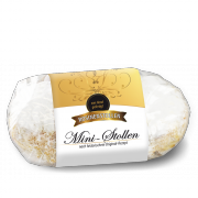 250g mini Christstollen in clear packaging