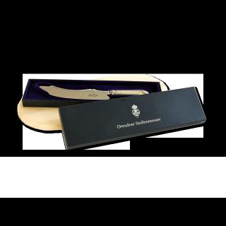 Dresdner Stollenmesser im Set mit Stollenbrett aus Holz