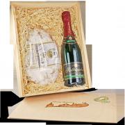 Geschenkbox bestehend aus Original Dresdner Christstollen und Rotkäppchen Sekt