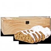 750g Christstollen in Premium Holztruhe