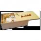 750g Original Dresdner Christstollen ® in Holzkiste - Seitenansicht geöffnet