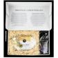 500g Dresdner Stollen® in Geschenkkarton mit Stollentee in Holzwolle eingepackt