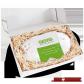 1500g Original Dresdner Christstollen ® in Geschenkkarton - geöffnete Box mit Stollen in Holzwolle