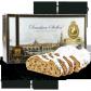 500g Dresdner Stollen ® inkl. 2 € HOPE-Spende - Frontansicht der Geschenkedose